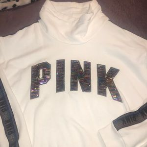 a hoodie from PINK